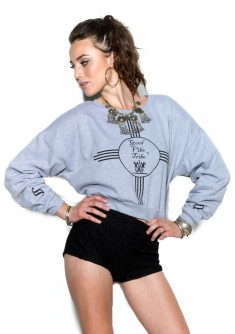 Good Vibe Crop Sweatshirt